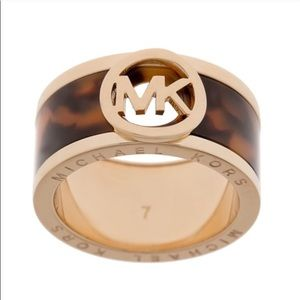 Authentic Michael Kors Rose Gold Ring Sz:8 NWT